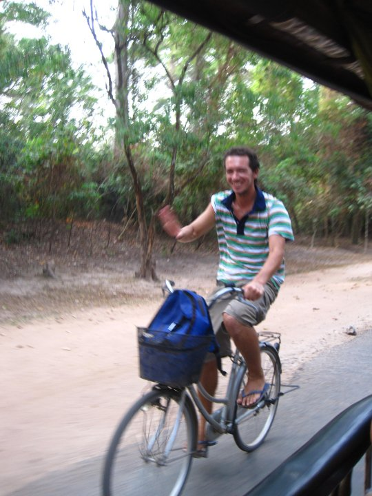 En bici en Angkor