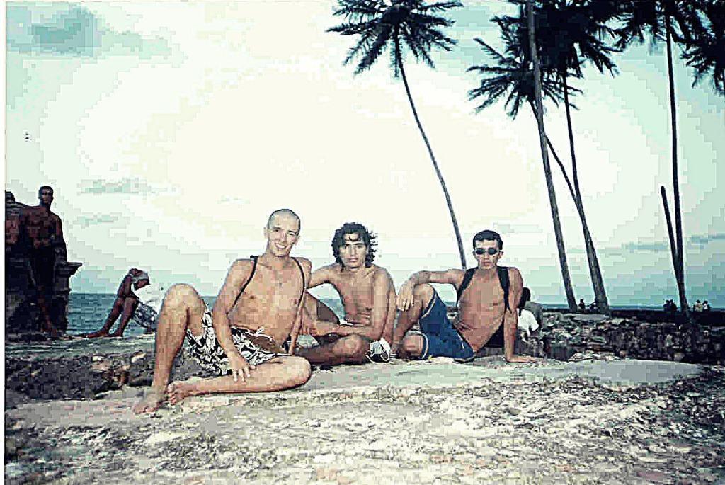 Abuelo, bruno y yo en el Morro