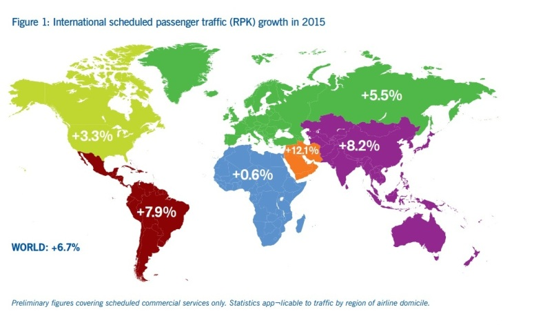 Incremento de pasajeros en 2015