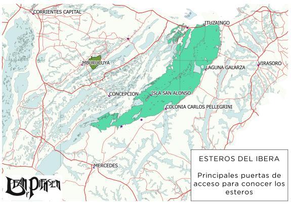 Mapa de los esteros