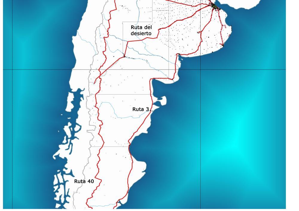 Rutas argentinas Sur